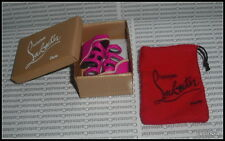 SHOES LOT (C) BARBIE LOUBOUTIN MODEL MUSE DOLL SHOES BOX TISSUE RED DUSTER BAG
