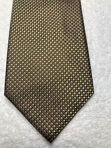 BANANA REPUBLIC MENS TIE BROWN AND GOLD 3.75 X 59