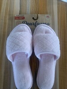 Womens Dearfoam Slippers XL 11/12