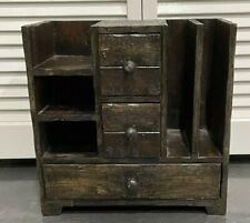 Vintage Rustic Wooden Office Desk Organizer Amp Mail Rack For Desktop Tabletop