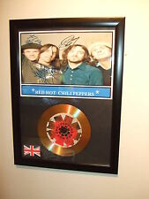 RED HOT CHILI PEPPERS  SIGNED FRAMED GOLD CD  DISC   4436