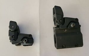 Magpul Front and rear pop up folding sights with front picanny mount