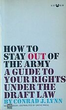 Lynn Book: HOW TO STAY OUT OF THE ARMY: 1967 Grove Paperback: Draft Resistance