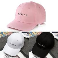 Casquette de baseball hip hop jeune coton casquette réglable chapeau