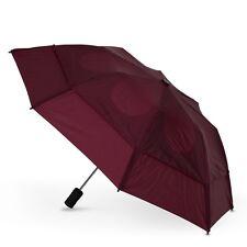 GustBuster Metro Auto Vented Folding Umbrella - Burgundy