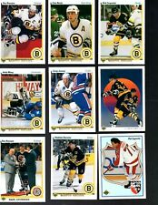 1990-91 Upper Deck Boston Bruins Complete Team Set (27)