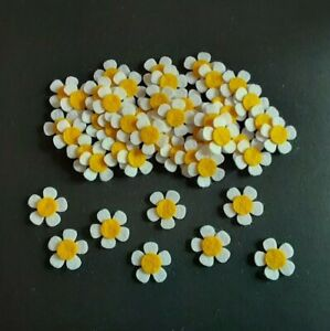 x 50 Felt Flower Embellishments. die cuts