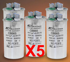 45/5 Dual Run Capacitor Lot of 5 MFD/UF 450VAC AC Electric Motor =LIFE WARRANTY=