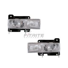 NEW LH & RH COMPOSITE HEADLIGHT ASSEMBLY FOR 1990-99 CHEVROLET C1500 GM2502101C