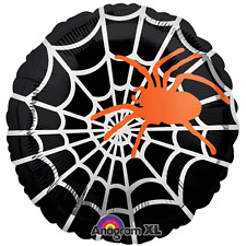 "Halloween Foil Balloon...18"" Sophisticated Spider Web"