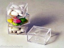 Offerta stock Bomboniere scatoline 6x6x3 Confettate Battesimo Cresima nascita
