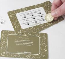 Neviti coeurs dorés Paquet de 10 Trivia Marriage RAYURE CARTE QUIZ jeu