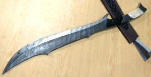 Custom Hand Made Moqen's Damascus steel Japanees Cult Sword