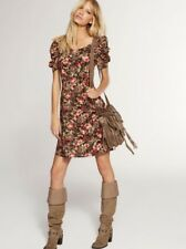 NEXT Flower Print Retro Hippy Boho Festival Summer Tea Dress Size 14 Tall