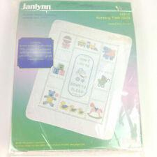 Nursery Time Quilt 269-11 Printed Cross Stitch Kit Janlynn 34x43 1985 Vtg