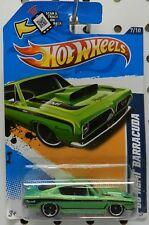 GREEN 7 87 1968 68 SUPER STOCK HEMI DRAG RACE PLYMOUTH CUDA MOPAR HW HOT WHEELS