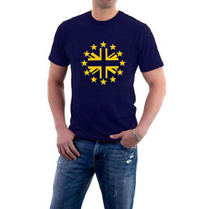European Brit T-shirt Remainer Union Jack Roundel Tee EU Europe Stars Brexit Tee