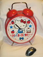 "VINTAGE HUGE 18.5"" HELLO KITTY RINGING ALARM CLOCK SANRIO 1976-2006 RARE *READ*"