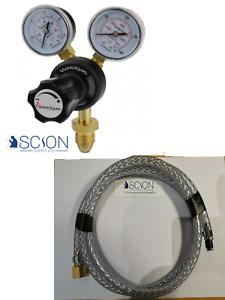 MIG Welding Gas Regulator with 4mm Hobby Welder Adaptor Hose Kit ARGON CO2