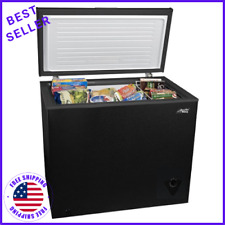 Chest Deep Freezer In Black 7 Cu Ft Frozen Food Storage Ice Fridge With Basket