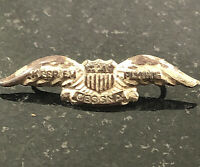 WWII Patriotic Keep Em Flying Cessna Aircraft Wings Pin Badge Army Air Force