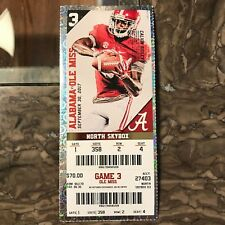 2017 Alabama vs Ole Miss Ticket Stub CALVIN RIDLEY 09/30/2017 NM+ 358 2 4