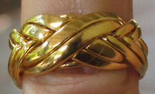 8 BAND PUZZLE RING 18K SOLID YELLOW GOLD HAND MADE  TO YOUR SIZE
