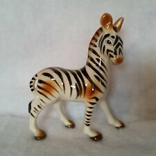 "New listing Vintage Zebra Figurine Black and Brown 5"" Tall 4¼"" long 2"" wide Japan"