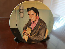 """Bradford Excha 00004000 nge Elvis Collectible Plate Looking a Legend #6 """"Studio Session"""""""