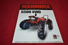 Mahindra 5500 4WD Tractor Dealer's Brochure YABE12