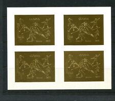 Guyana1992 Olympics/Soccer/Skiing Michel 3980B-81B IMPERF SPECIMEN Sheetlets