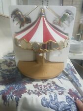 "2004 Hallmark - NIB Carousel Ride Display Stand with 2 Horses NEW 11.25"" x 10.25"