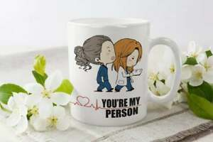 Grey'S Anatomy Mug You Are My Person Meredith And Christina Cup Funny Gift Cup