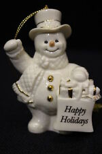 "Mint Lenox My Very Own Snowman Christmas ""Happy Holidays"" Gift Bag 4"" Ornament"