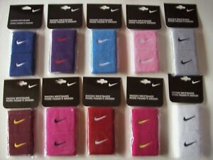 Nike Wristbands Swoosh 2pk Different Colors New