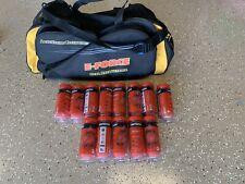E-Force Racquetball Duffel Club Gym Bag W/ 11 Sealed Cans Of Ektelon Balls