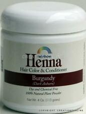 Burgundy Rainbow Research Henna Hair Colour and Conditioner 1 Jar 4 Oz 113 GMS