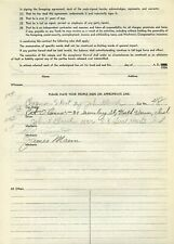 Pat O'Connor Signed 1956 Release Form from the Milwaukee Mile - Indy signed