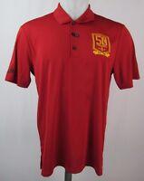 Houston Rockets 50th Anniversary Adidas Short Sleeve Golf Polo Shirt NBA Red