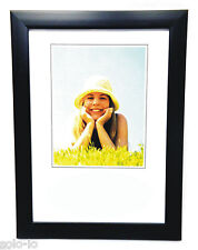 BULK 6 Picture Photo A4 Frame Certificate Frames Black Standing or Wall Hanging