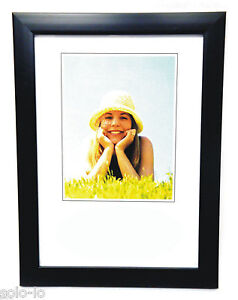1pc Picture Photo A4 Frame Certificate Frames BLACK Standing or Wall Hanging new