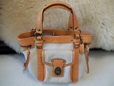 Genuine Coach Rare Orange Crocodile Satchel Purse with Purchase Papers