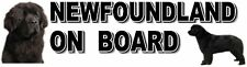 NEWFOUNDLAND ON BOARD Car Sticker By Starprint