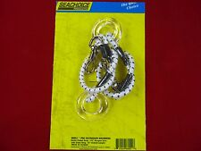 OUTRIGGER SNUBBERS BUNGEE GLASS RINGS SNAP CLIPS  PAIR SEACHOICE 88051