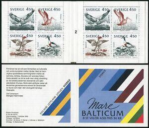 Sweden 1975-1978a booklet,MNH.Mi MH 176. Birds of the Baltic Shores,1992