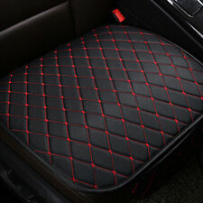 Auto Seat Cover Front Cushion Black PU+Red Line Universal Car Chair Accessories