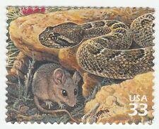 Us 3293i Sonoran Desert Rattlesnake Cactus Mouse 33c single Mnh 1999