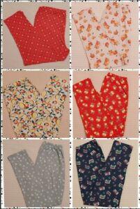 Ladies Pyjama PJ Bottoms Cotton Lounge Pants Various Colors And Sizes 8 to 24