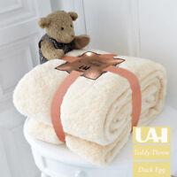 Large Soft Warm Fleece Cuddly Teddy Bear Throw Sofa Double King Bed Blanket