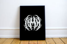 PEACE Print! Heavy Metal Font Poster! black metal lettering,Gothic, grind,poster